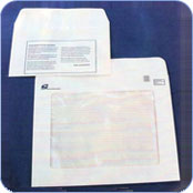 Large and small pre-printed paper envelope with window
